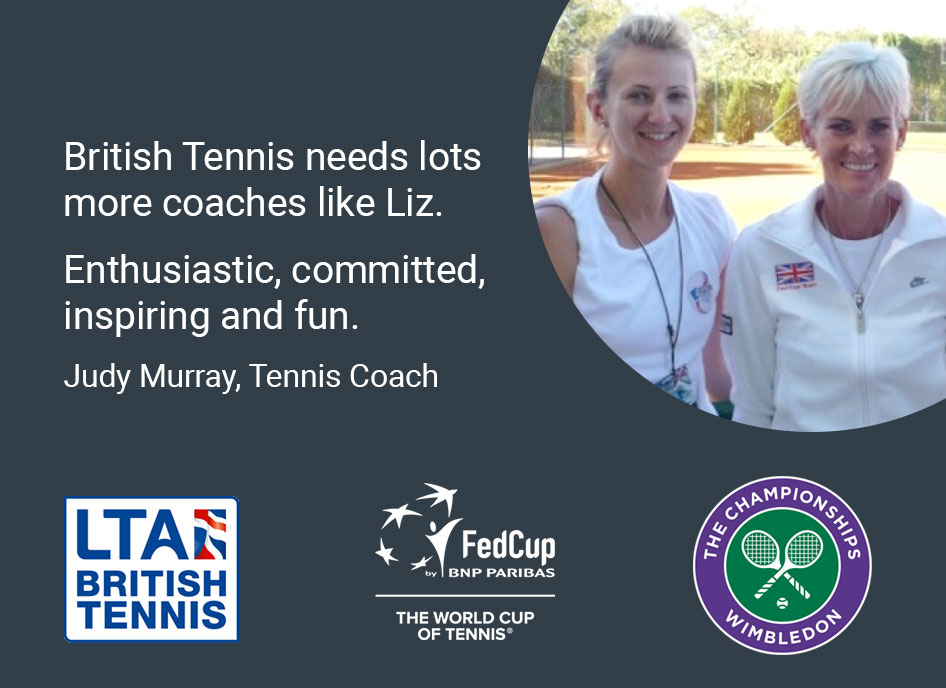 BRitish Tennis needs lots more coaches like Liz. Judy Murray, Tennis Coach